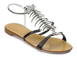 Giuseppe Zanotti Fishbone Leather Sandals