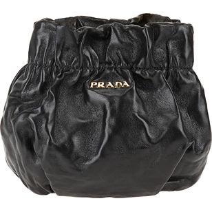 PRADA Mini Drawstring Pouch - Black