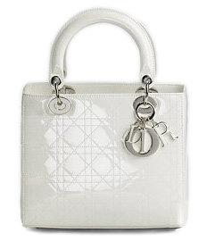 Dior Lady Dior Patent Top Handle Bag