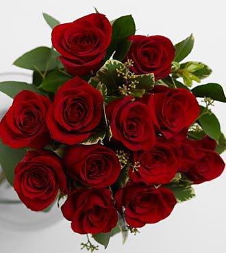 Vera Wang Red Rose Bouquet
