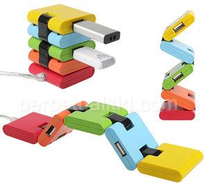 Flexible Chromatic USB Hub