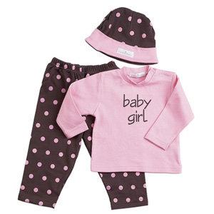 Baby Girl Chocolate & Pink Gift Set