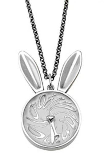 Tom Binns Rabbit Clock Necklace