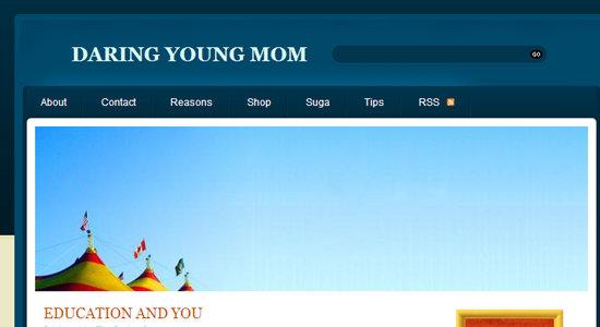 Daring Young Mom