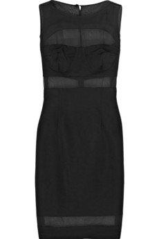 Jonathan Saunders Paneled Silk Shift Dress