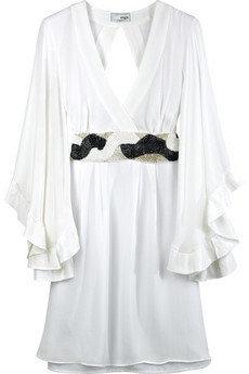Single Silk Crepe Beaded Dress