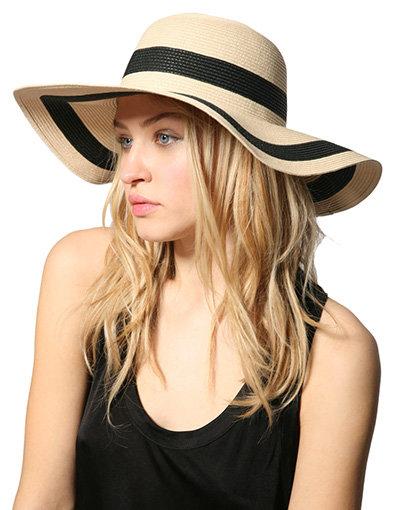 Reiss Zeiter Womens Wide Brim Straw Hat