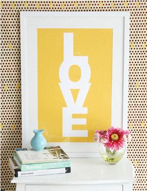 LOVE CANDY LEMON Poster