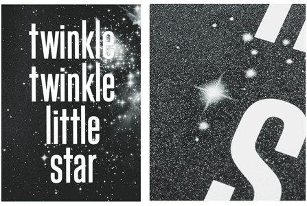 Twinkle Twinkle Glitter Poster