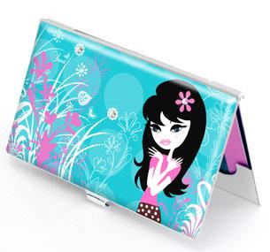 Cute Dollface Designer Business Card Case