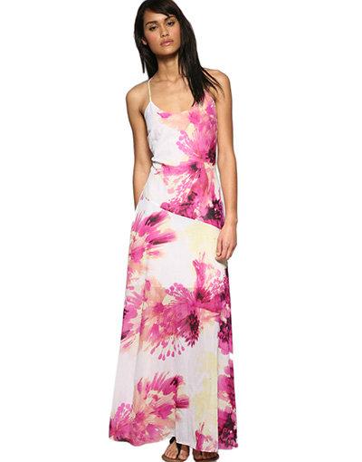 Diesel Tropics Floral Silk Maxi