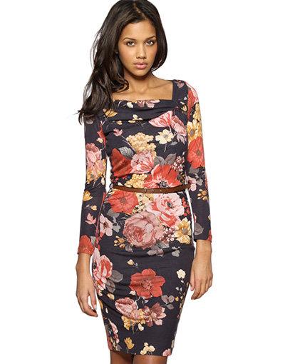 Mango Floral Jersey Dress