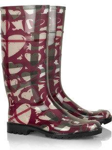 Burberry Heart-Print Wellington Boots