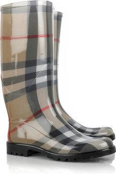Burberry Lisson Check Wellington Boots