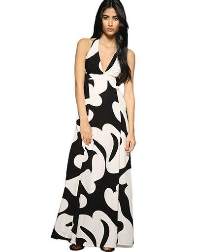 Monochrome Totem Bubble Dress
