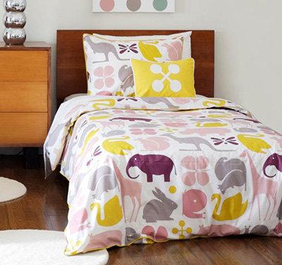 dwell studio gio lemon duvet set 10 pretty bedding sets for your. Black Bedroom Furniture Sets. Home Design Ideas