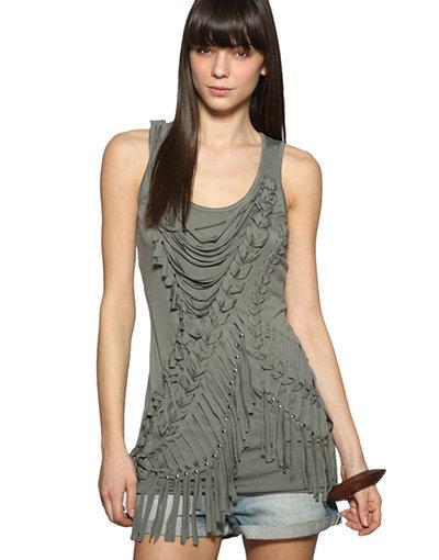 Warehouse Macrame Studded Vest