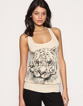 Asos Tiger Print Vest
