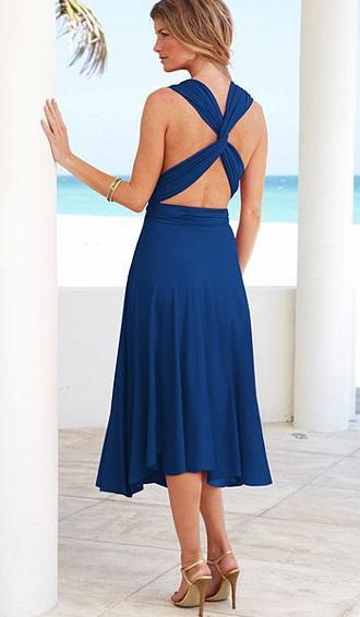 Blue Convertible Dress from Victoria's Secret - $95