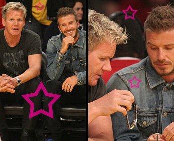 David Beckham (or Gordon Ramsay) at the Lakers' Game