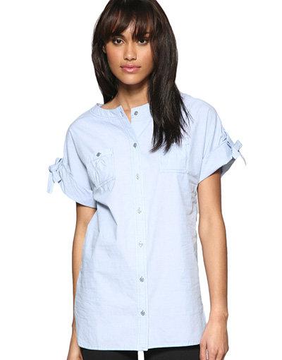 Mango Chambray Oversized Shirt
