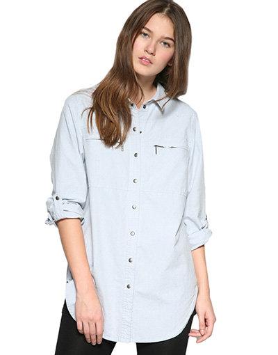 Whistles Oversized Denim Chambray Shirt