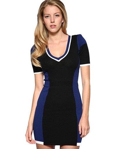 Karen Miller Block Colour Knitted Dress