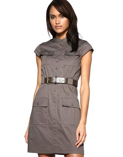Kookai Belted Military Dress