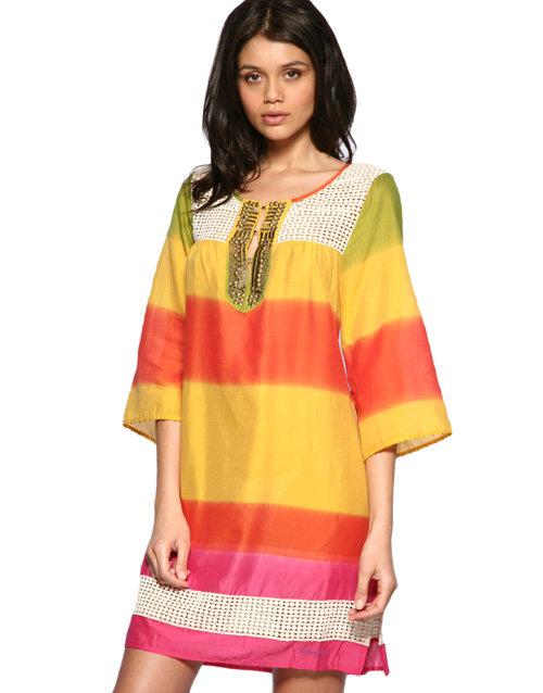 Pepe Jeans Rainbow Smocked Dress