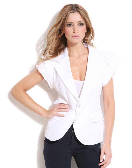 Sara Berman Frill Sleeve Blazer
