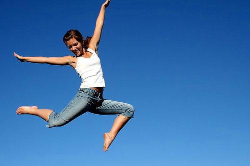 Jump on a Mini-trampoline
