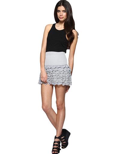 ASOS Crinkle Chiffon Hem Mini Skirt