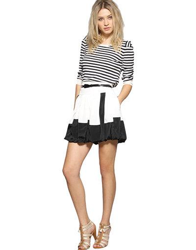 Reiss Ace Bubble Hem Skirt