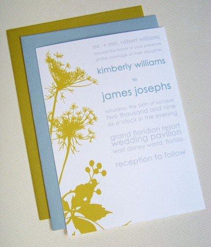 Anise Flowers Wedding Invitation