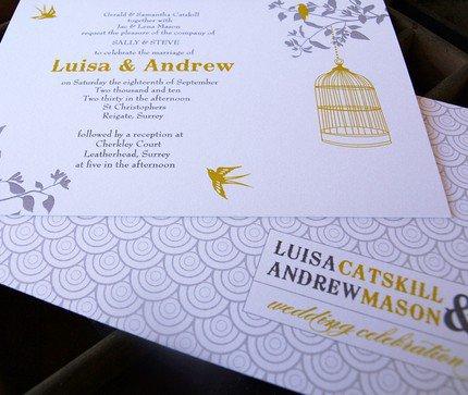 Aviary Wedding Invitations