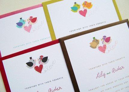 Mr. and Mrs. Birdy Wedding Invitation