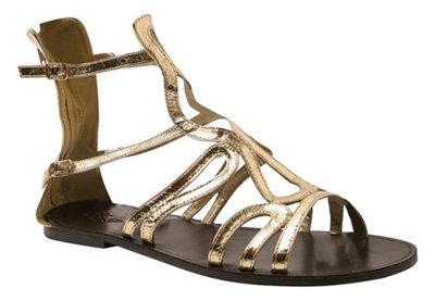 Golden Selena Gladiator Sandal