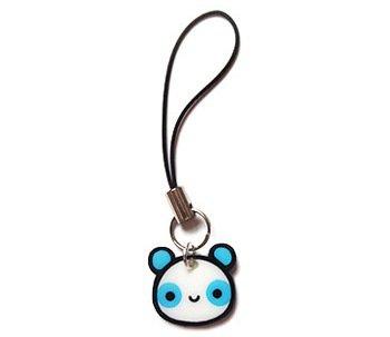 Blue Panda Cell Phone Charm