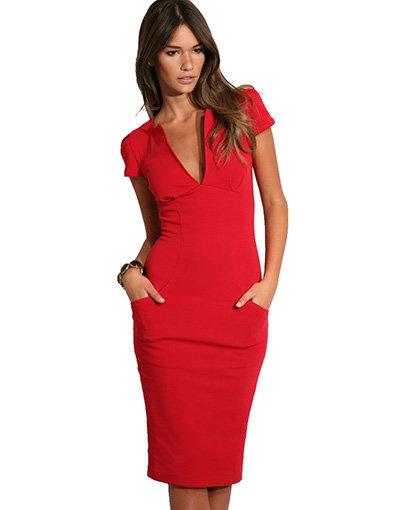 Ponti-Roma Tailored Pencil Dress