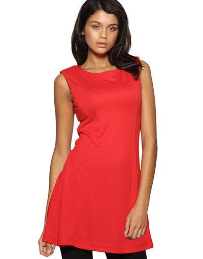Sleeveless Shoulder Pad Dress