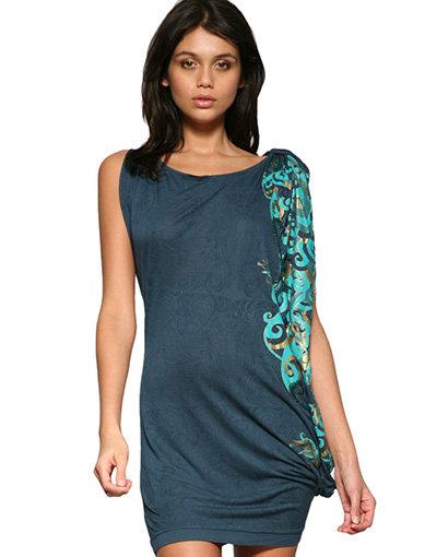 RingSpun Print Orient Tunic Dress