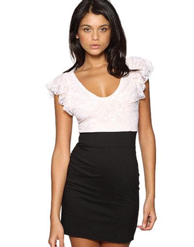 TNFC Lace Top Pencil Dress