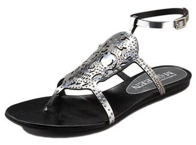 Alexander McQueen Metallic Skull Sandal