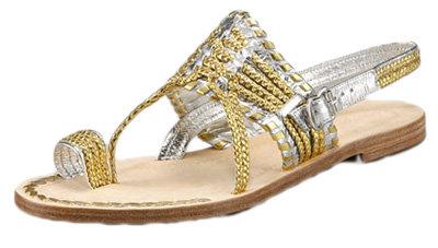 Sigerson Morrison Two-Tone Toe Loop Sandal