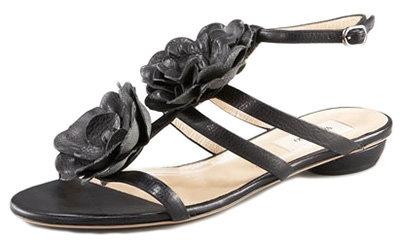 Valentino Leather Flowers Sandal