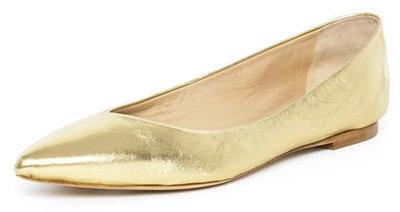 Michael Kors Pointed Toe Ballerina Flat