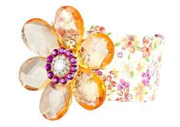 Charlotte Russe Floral Print Cuff Bracelet