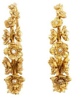 Juicy Couture Flower Hoop Earrings