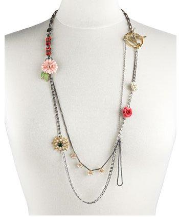 Juicy Couture Long Floral Necklace