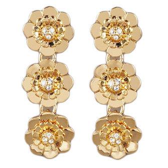 Kate Spade Triple Floral Drop Earrings